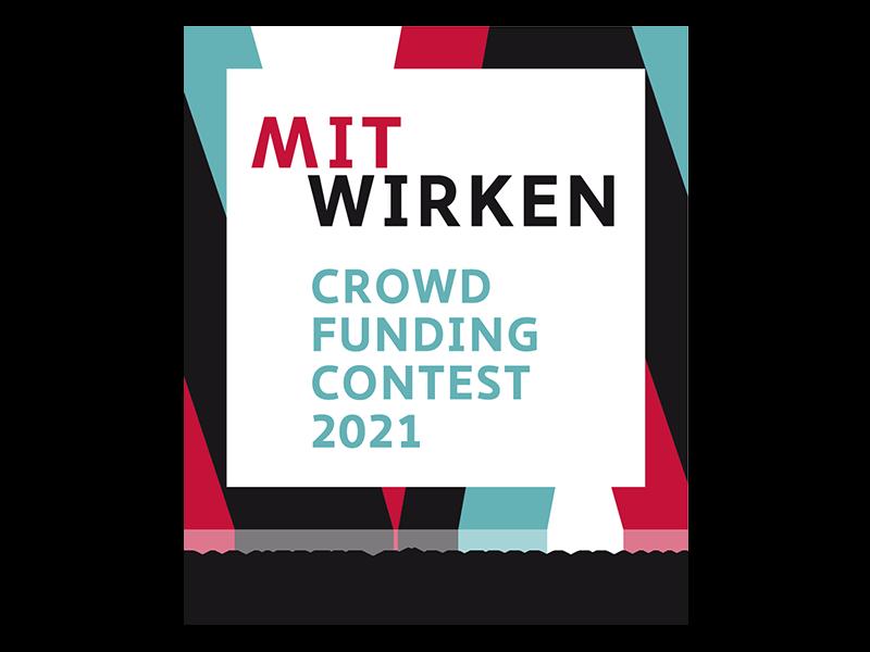 Das Bild zeigt das Logo von Mitwirken, dem Crowdfunding Contest vom Hertie-Förderprogramm für gelebte Demokratie.